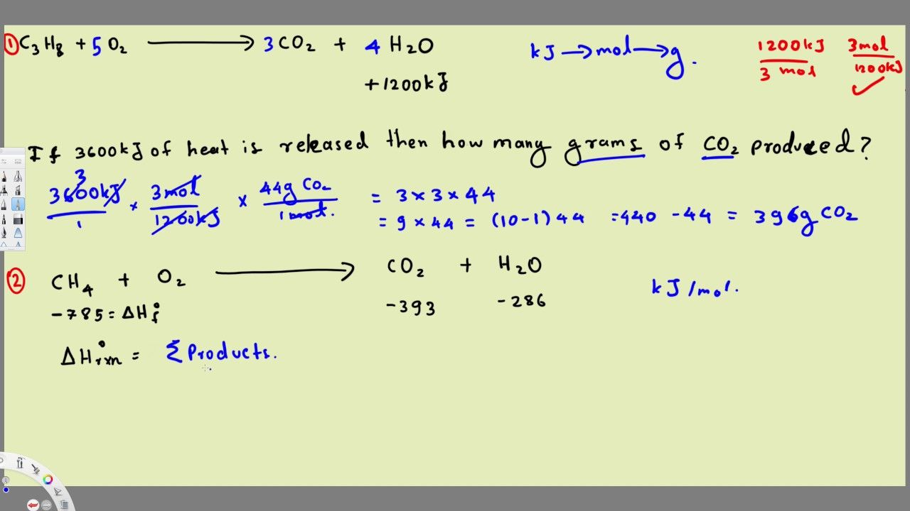Thermochemistry Equations & Formulas - Practice Problems