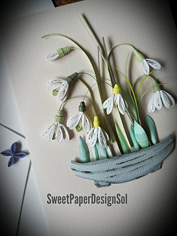 Quilling Template Snowdrop