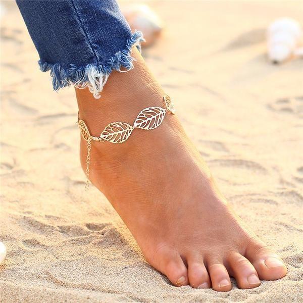 Pcs Bracelet Perle Plage Argent Cheville Vintage Bracelet Chaîne Pied Pieds Nus Chaîne