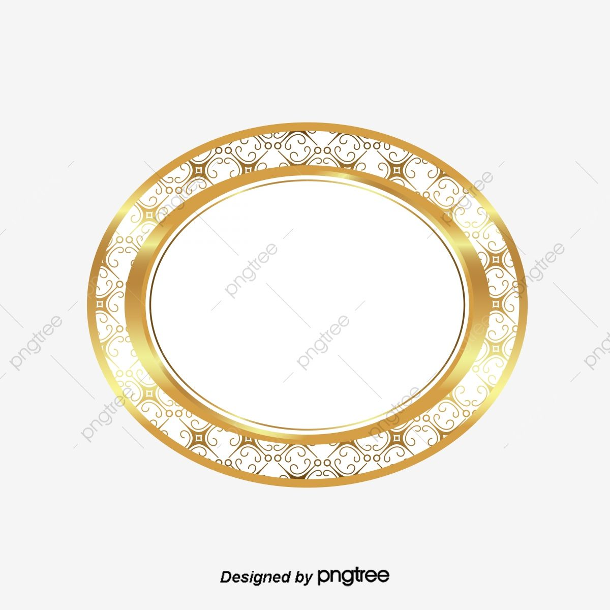 The Circle Frame Style Elegant Gold Thai Patterns Golden Circle Frame Patterns Png And Vector With Transparent Background For Free Download Circle Frames Fashion Frames Thai Pattern