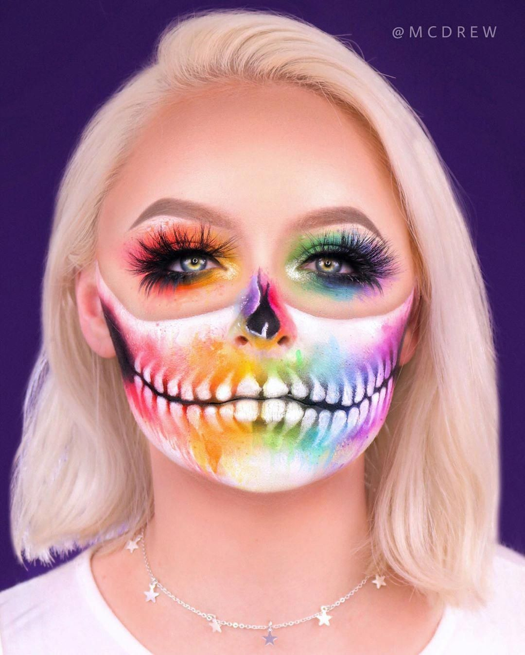 RAINBOW WATERCOLOR SKULL 🌈 ⠀⠀⠀⠀⠀⠀⠀⠀⠀⠀⠀⠀⠀⠀⠀ NEW video on