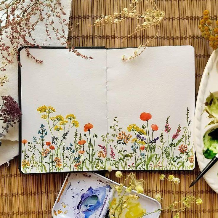"""Floral Watercolor Hub auf Instagram: """"Schau dir all die hübschen Farben an � !! Schöne Blumen..."""