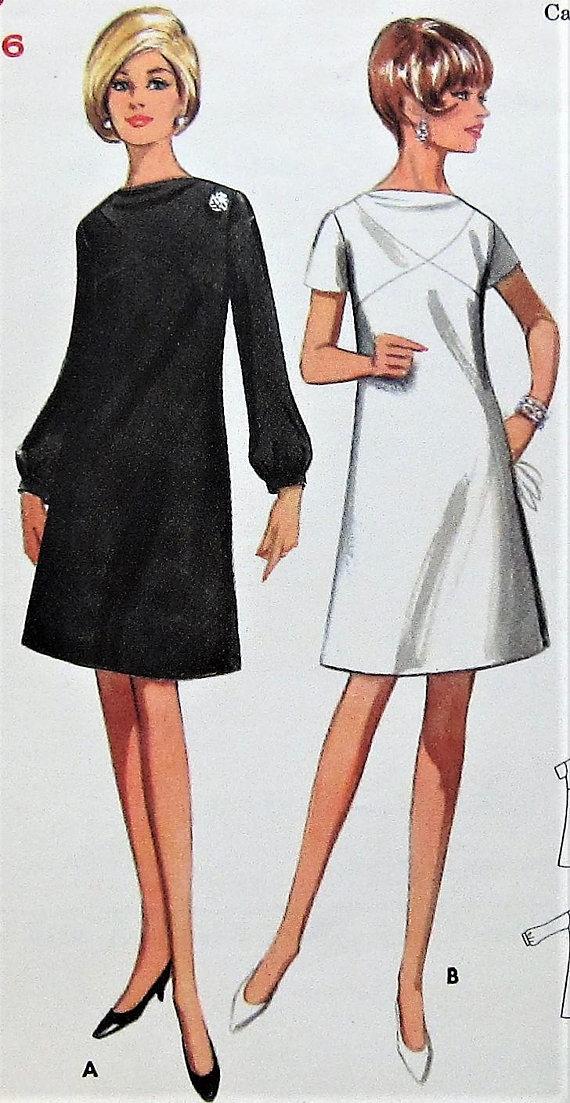 Vintage Dress Pattern Butterick 4483 Size 16