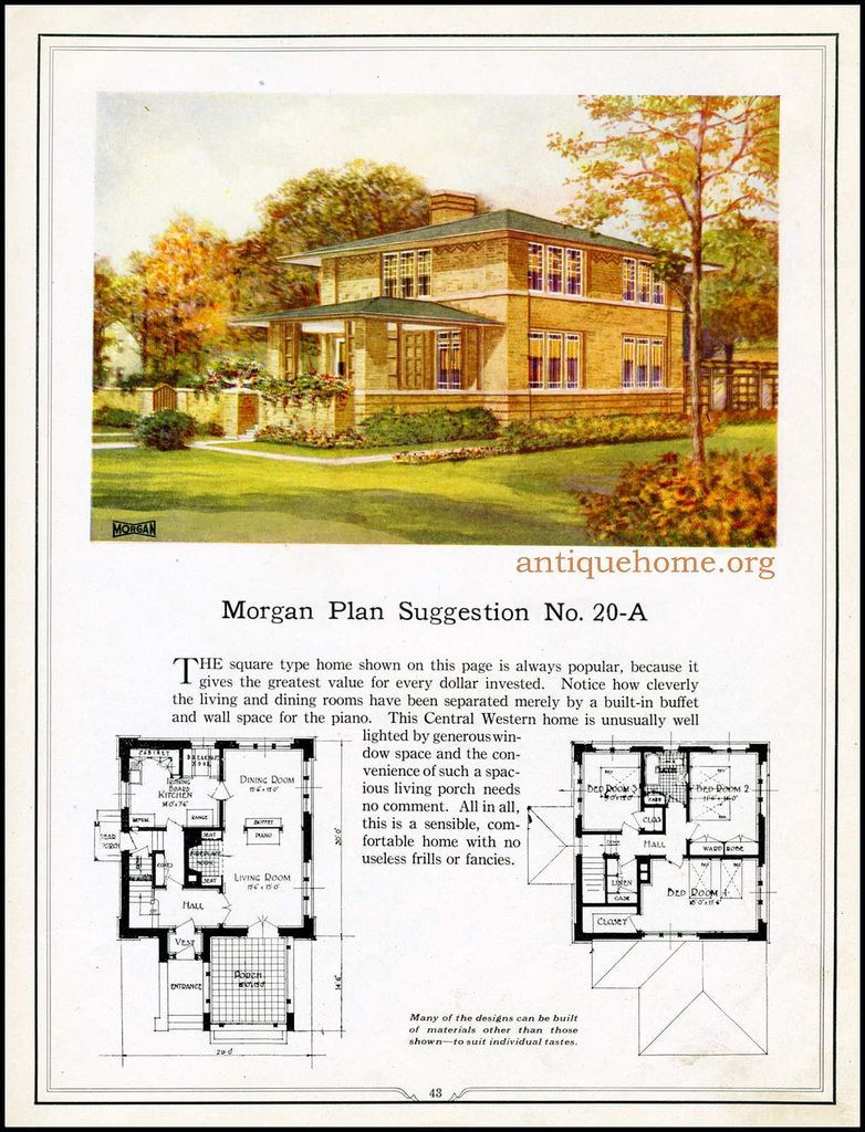 Morgan House Plan Suggestions Building With Assurance Vintage House Plans Four Square Homes Prairie House