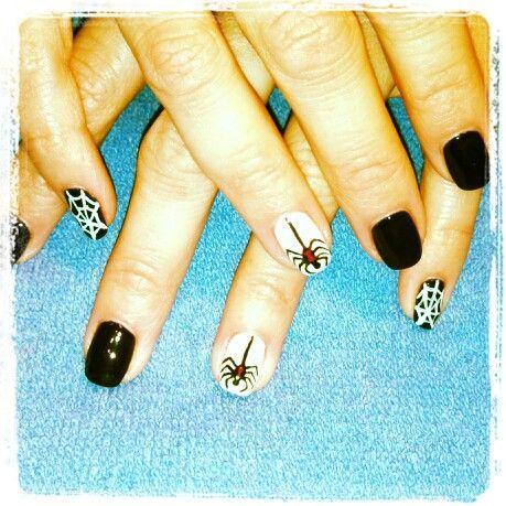 shellac halloween spider nails | Nails, Bling nails ...