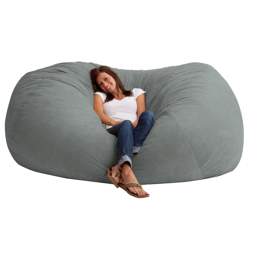 Xxl fuf suede bean bag chair big joe products pinterest