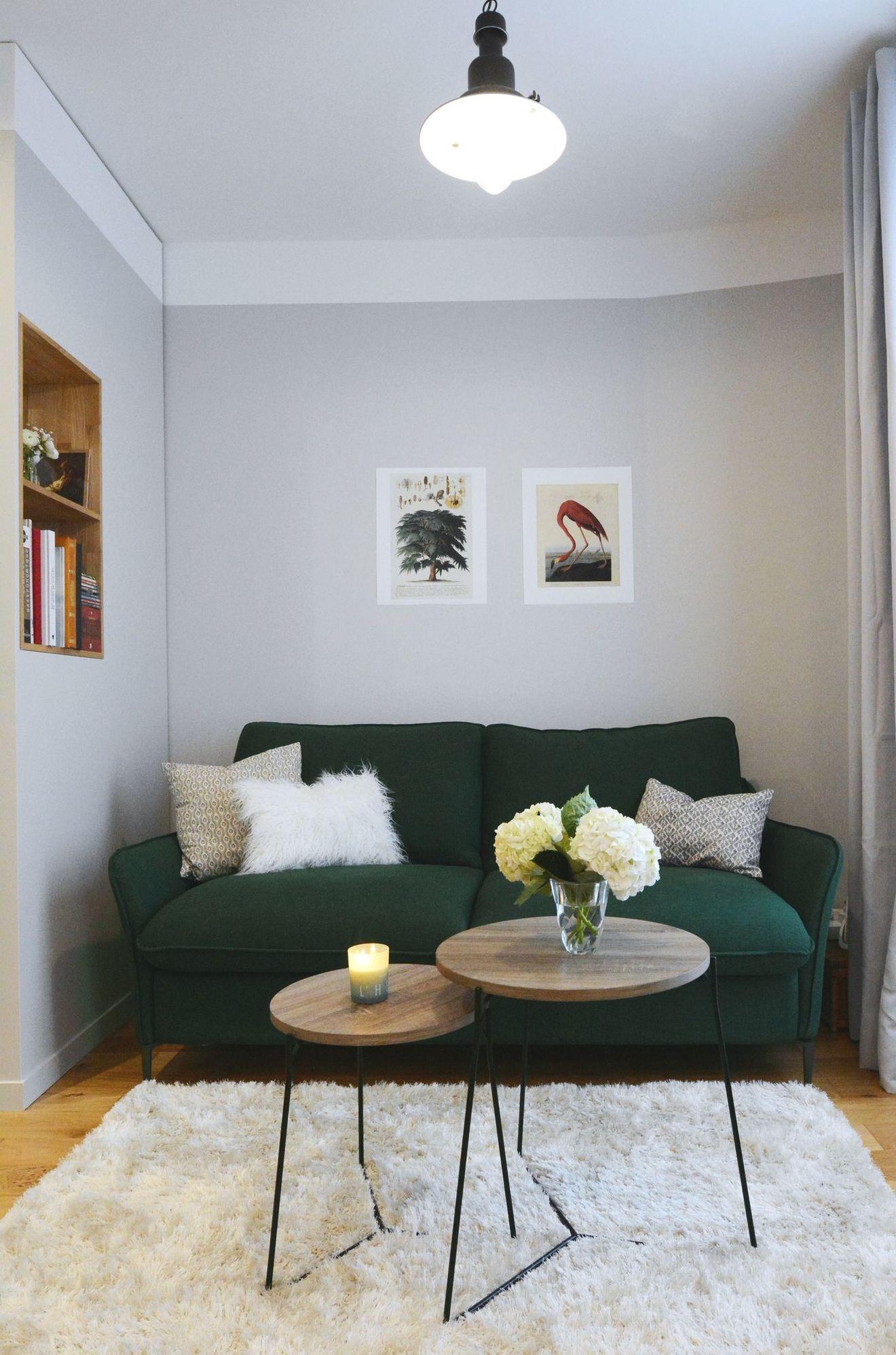 Appartement Paris 9 Renovation Studio De 28 M2 Avec Chambre Decoration Petit Salon Idee Deco Petit Salon Amenagement Salon