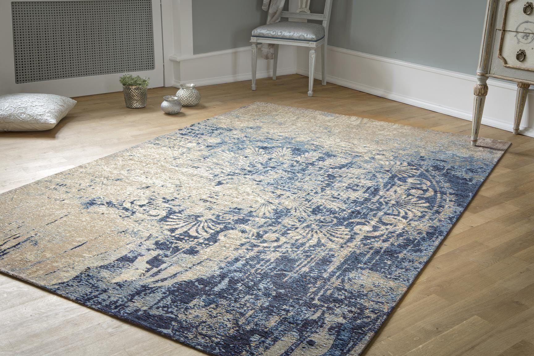 Luxor living vintageteppich beige blau barock vintage teppiche