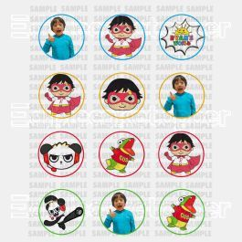 Ryans World Edible Cupcake Toppers (12 Images) Cake Image Icing Sugar Sheet Edible Cake Images #pictureplacemeant