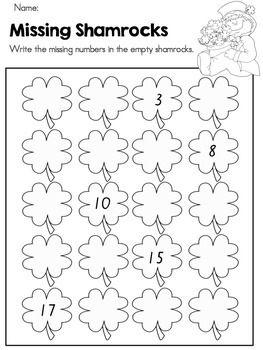 Printable St Patricks Day Worksheets Preschool