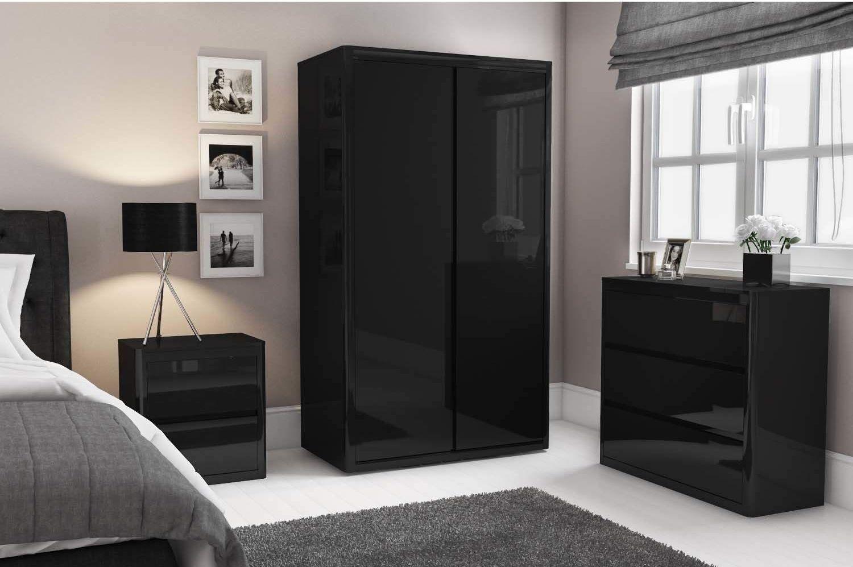 c2bb42d822 GABRIELLA black high gloss collection | -home decorating- | Tall ...