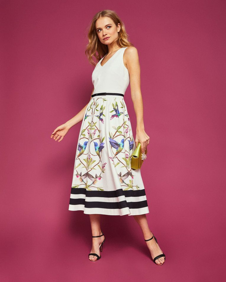 ba51a42bd Highgrove V-neck cotton midi dress - White