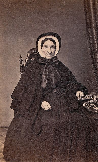 Philadelphia Widow, Albumen Carte de Visite, circa 1863, via Flickr.