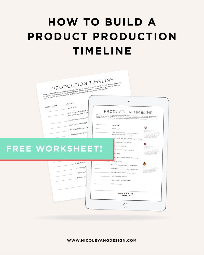 How To Build A Product Production Timeline For Your E Commerce Business Product Printing Schedule Free Business Worksheet Business Checklist Success Business