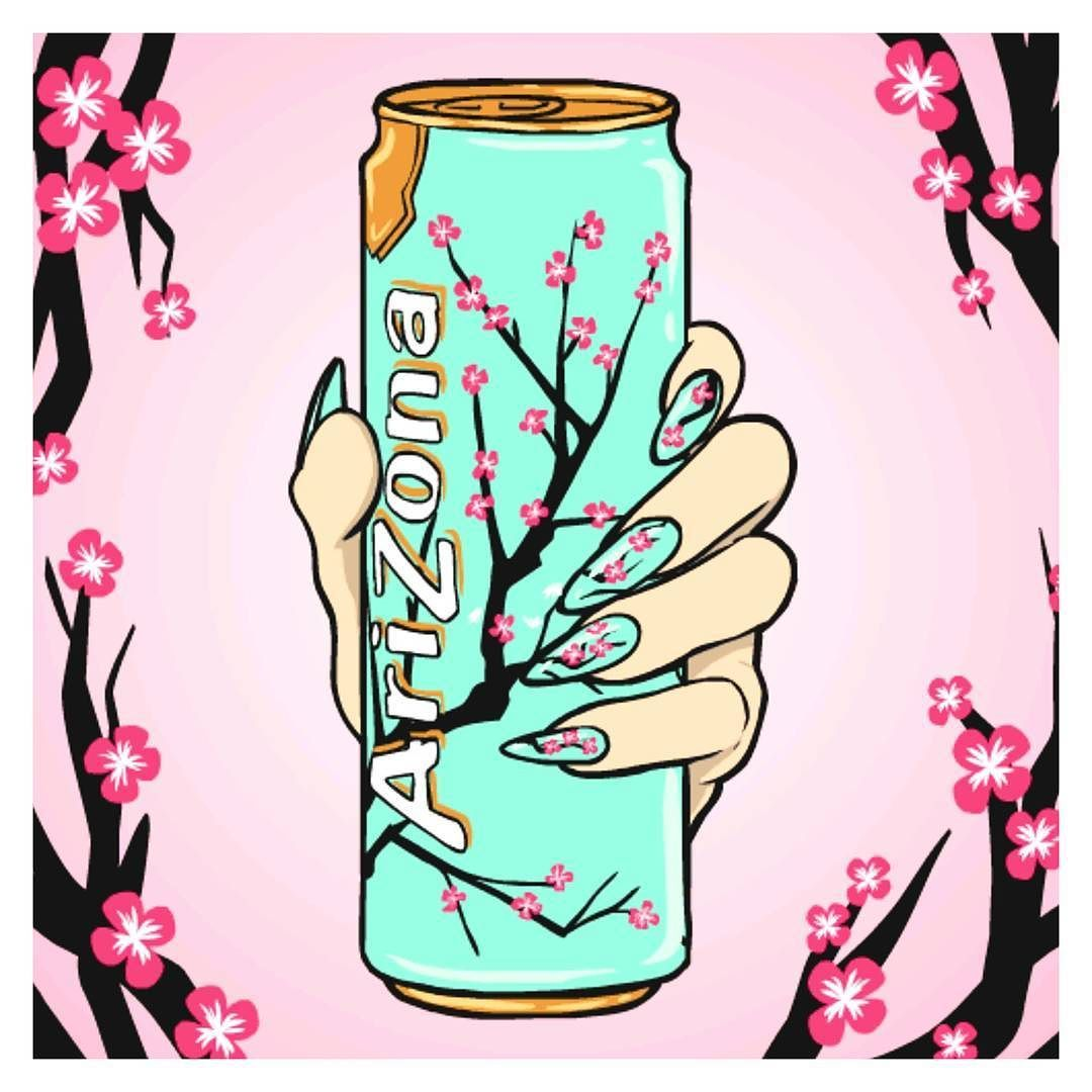 Colourmyday Day 13 Tin Aside From A Few Sodas That I Love Arizona Green Tea Is My Favorite Found Arizona Green Teas Tea Wallpaper Cherry Blossom Drawing