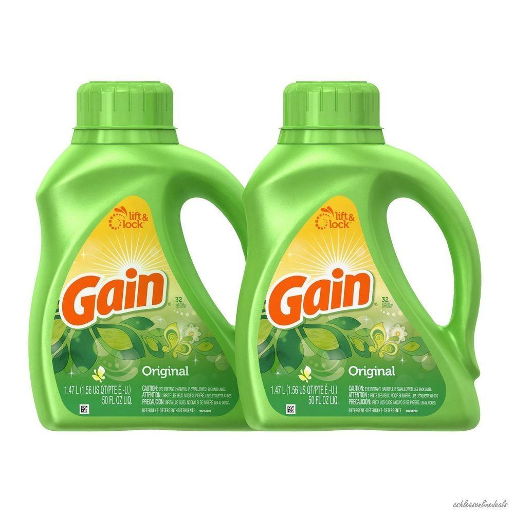 New Gain W Freshlock Liquid Detergent Laundry Soap Pack Of 2 50