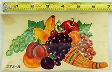 Nºs Anos 50 Vintage Meyercord decalques Frutas Cornucópia Uva as transferências de ameixa # 373b