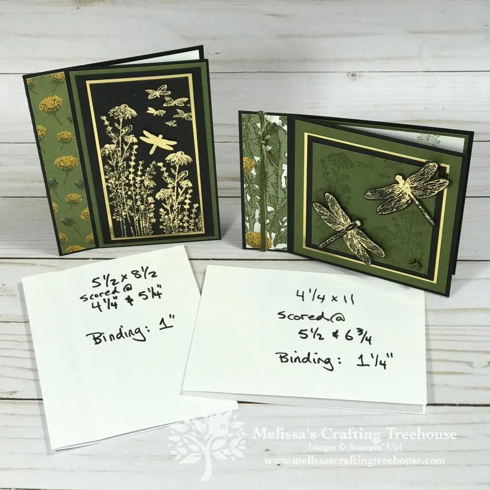 Book Binding Fun Fold Cards - Melissa's Crafting T