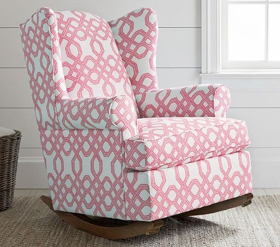 1a72662f1aae7b Lilly Pulitzer Wingback Rocker & Ottoman in 2019 | Lilly Pulitzer x ...