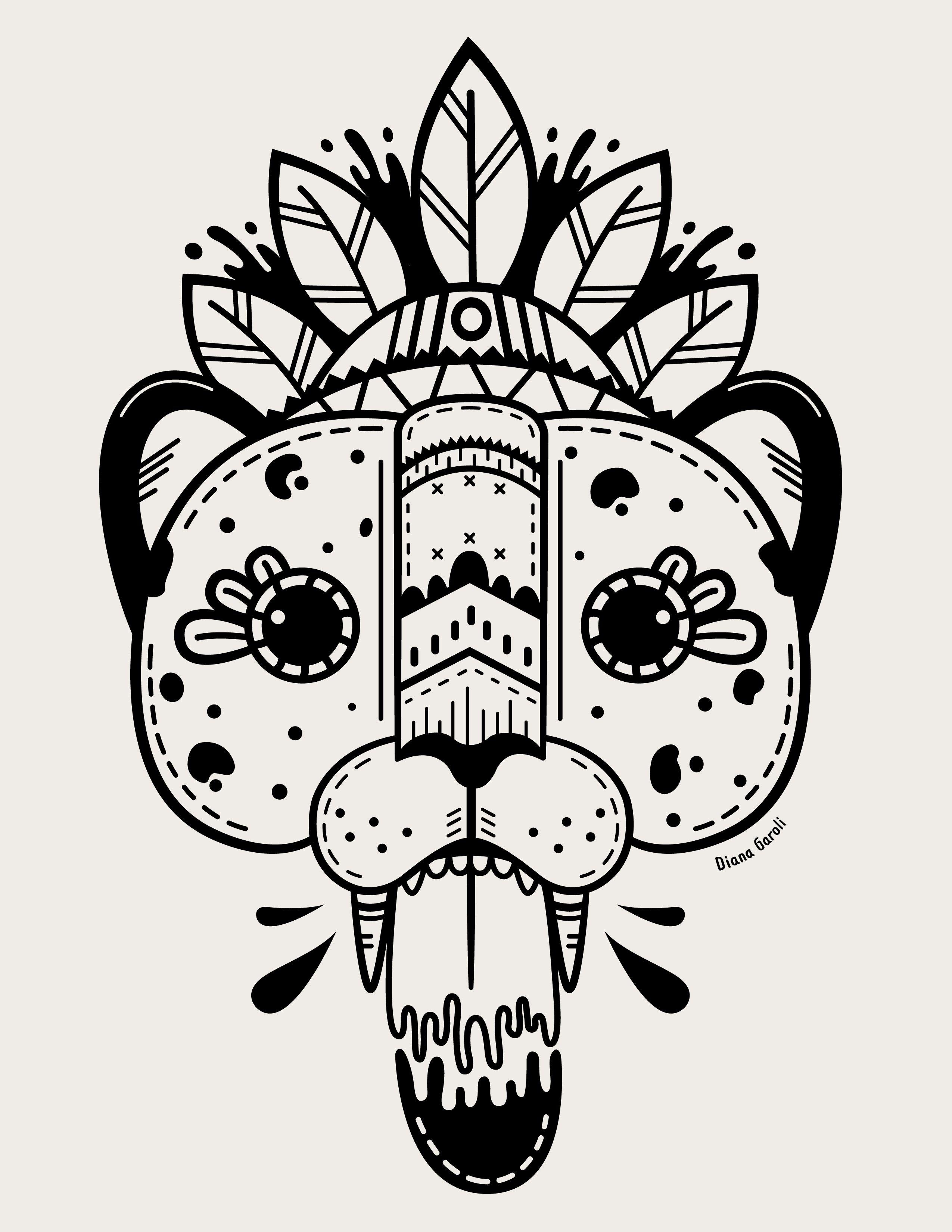 Diana Garoli Jaguar Illustration Dibujos En 2019