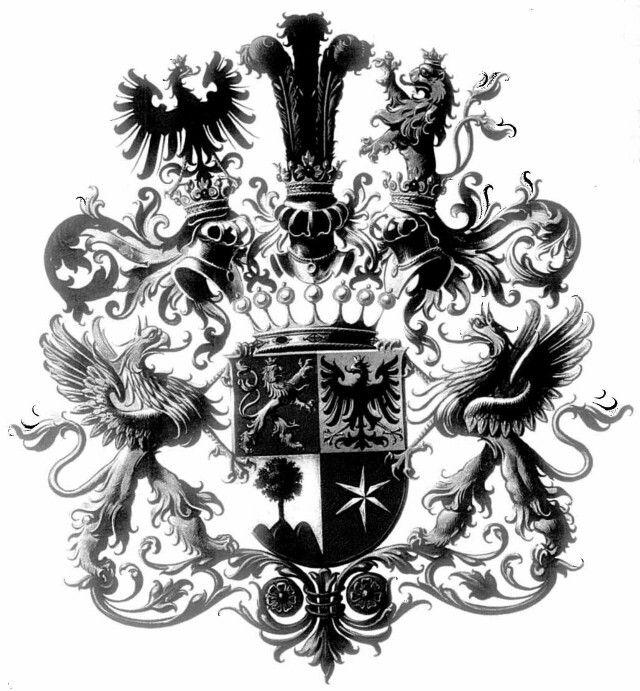 Wappen der Freiherren von Waldstätten-Zipperer  Coat of Arms of The Freiherr von Waldstätten-Zipperer
