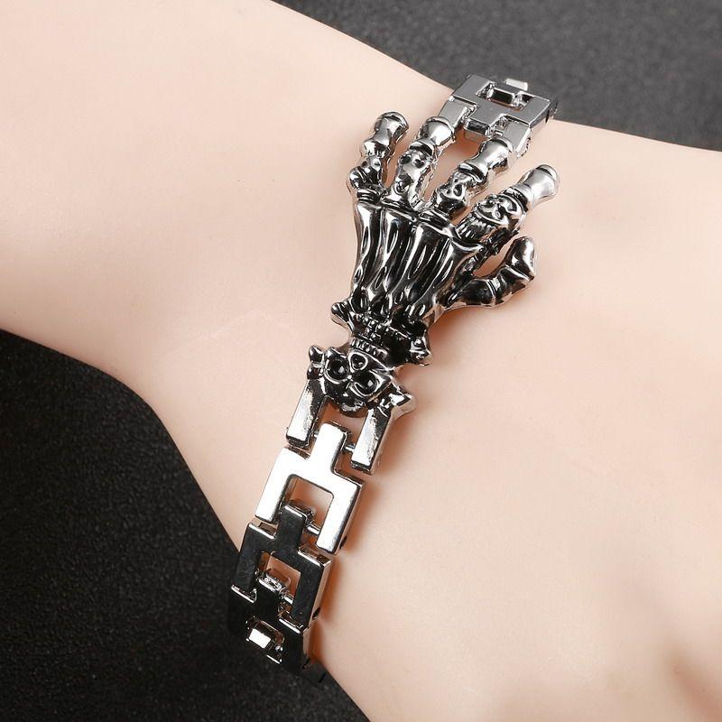 High Quality Skeleton Claws Skull Single Hand Bracelet pulseira ...