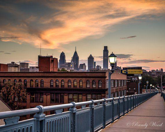 Warm Sunset In Philly Philadelphia Photography Fine Wall Art Urban Decor Urban Decor Photography Wall Art