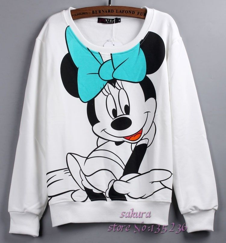 20d82ade7a895a Moletom Estampa Minnie Mouse | \o.o/ <3 em 2019 | Moletons femininos ...