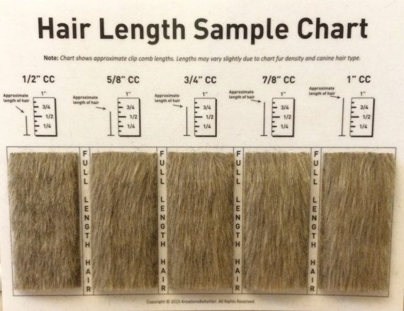 Clip Comb Sample Chart for Grooming by KreationsByKohler on Etsy - sample chart