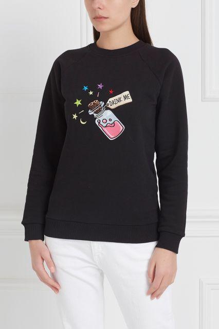 Свитшот с принтом Girls In Bloom - Свитшот черного цвета с изображением  пузырька и надписью  5ddba5029d133