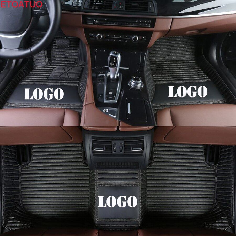 ETOATUO custom logo car floor mats for Lincoln all models