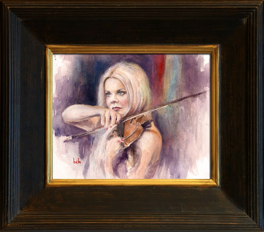Celtic Woman - Watercolor of my favorite Celtic Woman member, Mairead Nesbitt. 8x10 on watercolor paper.