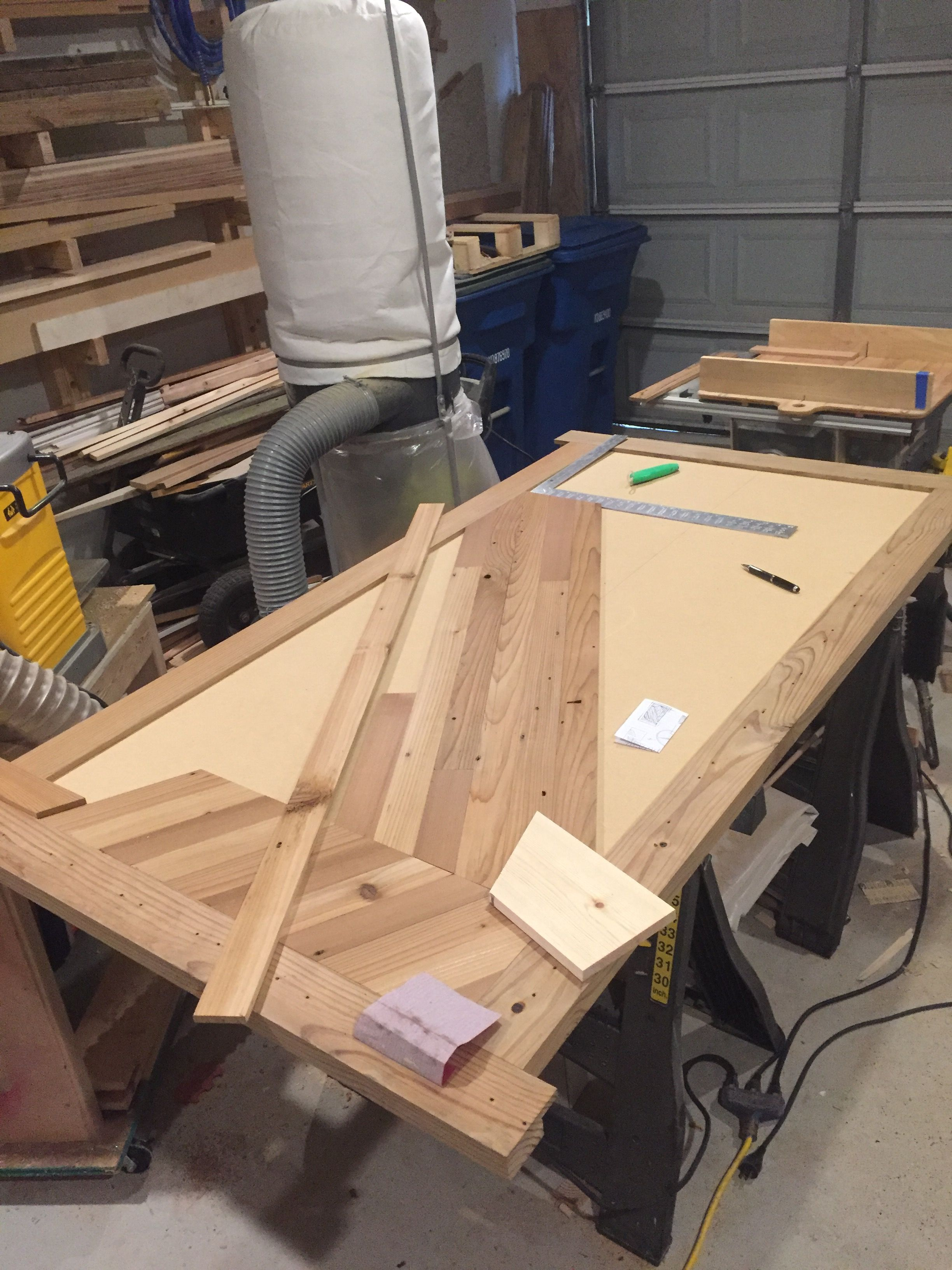Reclaimed Wood Table Top Made From Old Fence Pickets And Stringers
