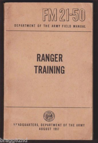 1957 us army ranger training field manual fm 21 50 vintage rh pinterest com U.S. Army Field Manual 21 20 Army Field Manual 3 24