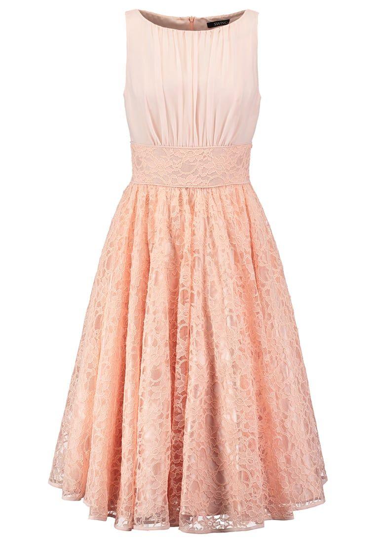 Kleid peach spitze