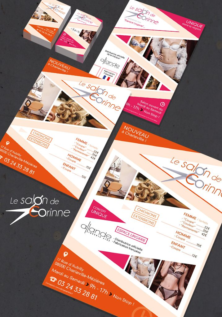 Carte De Visite Flyer Affiche Salon Coiffure
