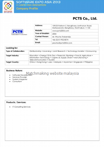 Match making website in malaysia