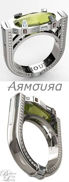Brilliant Luxury * Armoura 'Deco Delight' Ring