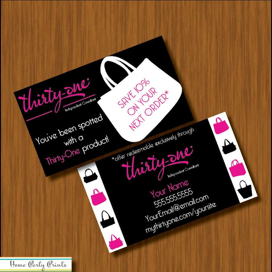 Thirty One You\'ve Been Spotted Business Card by HomePartyPrints ...
