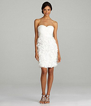 48bbe4d0ecd9 JS Collections Strapless Dress #Dillards | Black and White Ideas ...