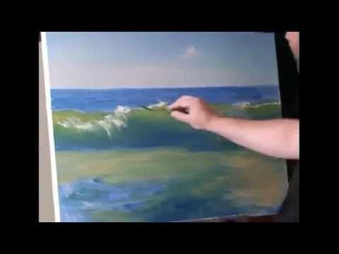 Vagues de la mer comment peindre la mer a l 39 huile et a l - Joint acrylique a peindre ...