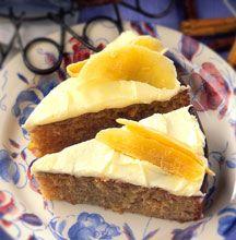 Pineapple and banana cake