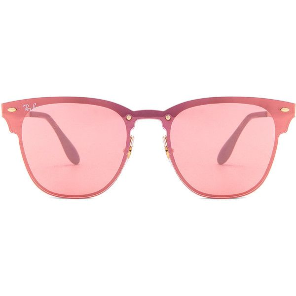 47ccdcb4c3 Ray-Ban Blaze Clubmaster (335 BAM) ❤ liked on Polyvore featuring accessories
