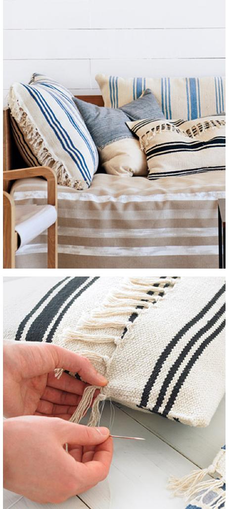 Diy Ikea Rug Cushion Avec Images Diy Ikea Tuto Housse De Coussin Tapis Ikea