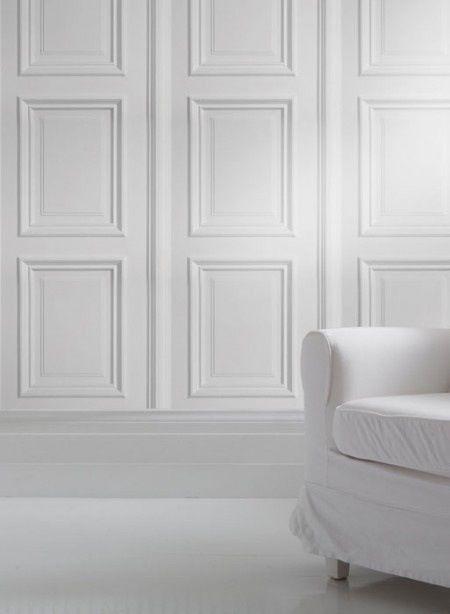 Le papier peint trompe lu0027oeil White rooms, Color photography and