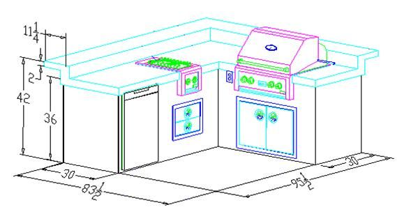 L Shaped Outdoor Kitchen   Google Search