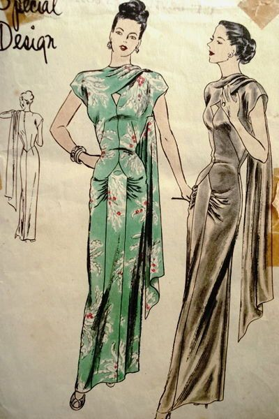 1940s Style Ultimate Formal Tiki Side Shoulder Drape Sari Dress Custom Made in Your Size From a Vintage Pattern #saridress