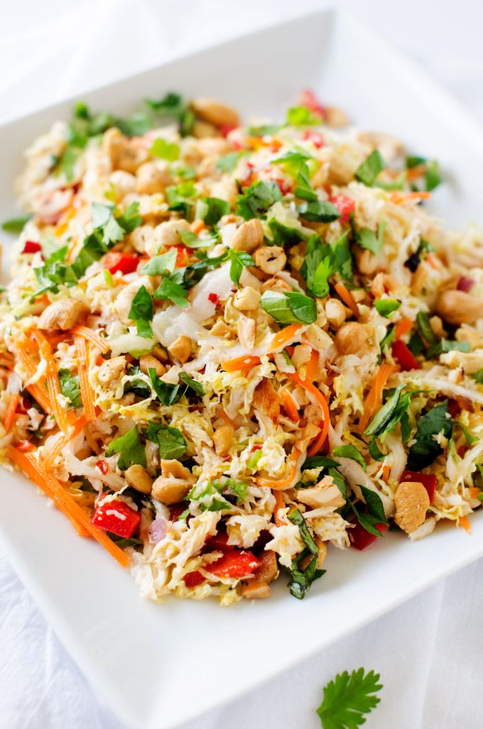 Thai chicken salad recipe thai chicken salad healthy salad meals thai chicken salad forumfinder Images