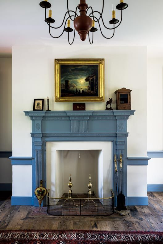 Blue Fireplace Anatomy Of A Historic Fireplace | Mantels | Painted