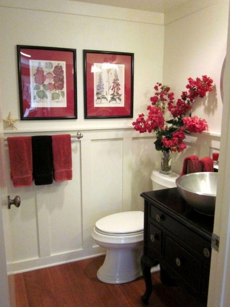 44 Favorite Red Black And White Bathroom Decor Ideas Red Bathroom Decor Bathroom Red White Bathroom Decor